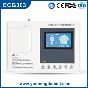 ECG-E303 Ce ISO Approved Three Channel Digital Potable ECG Machine pictures & photos