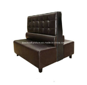Brown Leather Buffet Booths Duble Couch pictures & photos