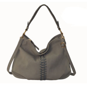 New Arrival Fashion Ladies Handbag Front Laced PU Leather Shoulder Bag (ZXL041) pictures & photos