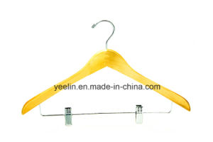 Wooden Coat Hanger and Pants Hanger for Display (YLWD-c8) pictures & photos