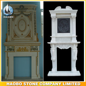 Custom Design Fireplace Ornament Stone Fireplace Surround Hand Carved pictures & photos