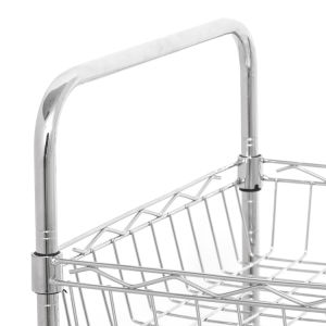 NSF Approval Chrome Metal Wire Kitchen Basket Rack Trolley pictures & photos