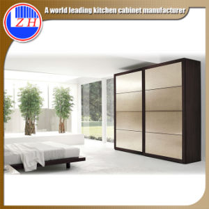 Interior Glss 2 Door Wardrobe for Home Furniture (sliding door) pictures & photos