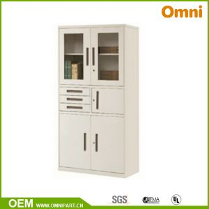 Office Commercial Furniture Glass Door Metal Filing Storage Cabinet (OMNI-XT-07) pictures & photos