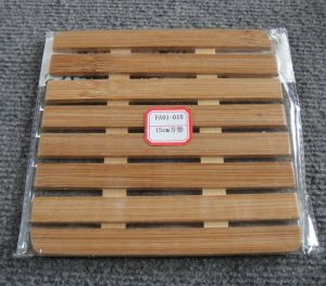 (BC-M1014) Handmade Natural Bamboo Square Heat Insulation Mat pictures & photos