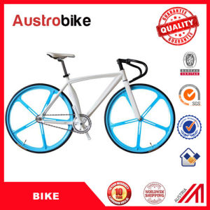 Wholesale 700c Road Bike Stee Alloy Aluminum Fixed Gear Bike Frame White Blue Color 26inch Fixed Bike Cheap for Sale pictures & photos