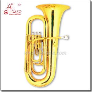 3 Valves Bb Key Gold Lacquer Children Tuba pictures & photos