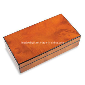 High-Gloss Lacquered Finish Wood Cufflinks Box pictures & photos