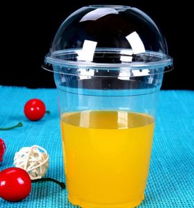 Disaposable Cold Drink Pet Cup, 98mm Pet Cup for Juice, Plastic Cup pictures & photos