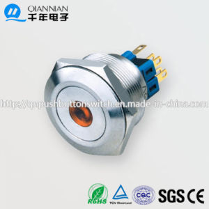 28mm 1no Nc/2no 2nc Resetable Self-Locking Flat DOT Illuminated IP67 Ik10 Push Button Switch pictures & photos