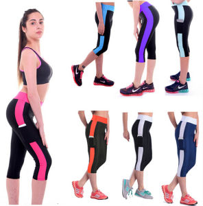 High Quality Side Pocket Elastic Slim Hip Fitness Leggings pictures & photos