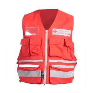 Hot Sale Multi-Pocket Security Work Vest Hi Vis Safety Vest (UF241W) pictures & photos