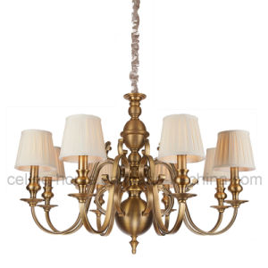 Hot Sale Iron Chandelier with Fabric Shade (SL2091-6) pictures & photos