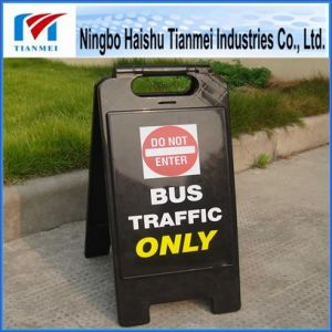 Black PP Floor Traffic Warning Caution Sign for Sale pictures & photos