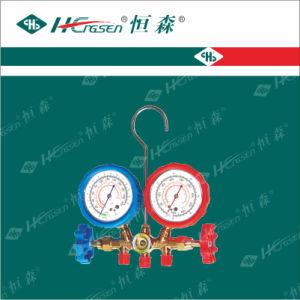 for R12 R22 & R502 Brass Testing Manifolds, Refrigerant Pressure Gauge, Manifold Pressure Gauge pictures & photos