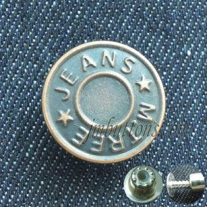 Custom Brand Brass Metal Button for Denim pictures & photos