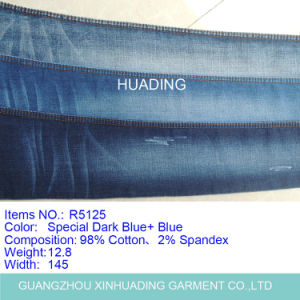 Heavy Fashionable Girls′ Denim Jeans Garment Fabric Manufacturer (R5125) pictures & photos