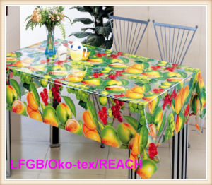 Printed PVC Transparent Tablecloth in Roll Wholesale (TT0204) pictures & photos