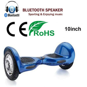 2016 New Product 10 Inch Hoverboard with Bluetooth Speaker pictures & photos