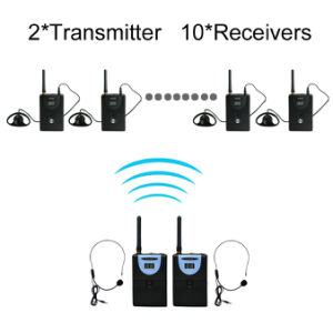 Wtg02 Wireless Tour Guide System 2 Transmitters +10 Receivers pictures & photos