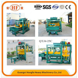 Automatic Block Plant Hollow Brick Machine Block Making Machine (QTJ4-25C) pictures & photos