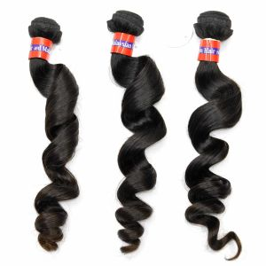 Peruvian Virgin Hair Extensions Loose Curl Size 10inch to 30inch pictures & photos