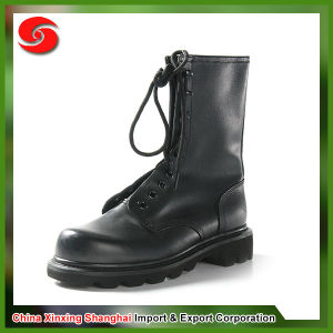 Black Colour Genuine Leather Military Boots pictures & photos