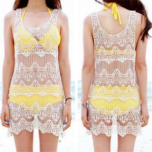 Fashion Korean Design Lace Corchet Sexy Beach Dress (50163) pictures & photos