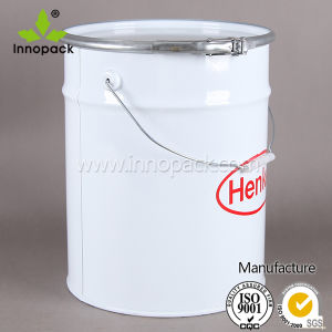 20L Printed Cold Rolled Steel Paint Bucket with Lock Ring Lid pictures & photos