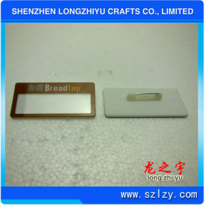 Aluminum Name Badge with Safety Pins and Name Insert pictures & photos