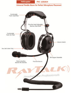 Aircraft Noise Cancelling Headset Military Pilot Headset Aeroplane Helicopter Headset pictures & photos
