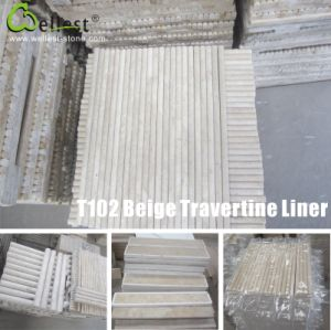 Travertine Pencil Linear Moulding Modling Skirting pictures & photos