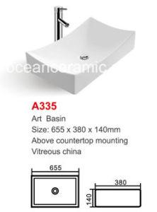 Ceramic Wash Basin (No. A335) Rectangular Art Basin pictures & photos