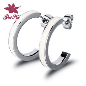 Fashion CZ Stones Stainless Steel Imiation Earrings Jewelry pictures & photos