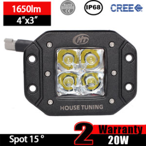Flush Mount LED Light (3X3 Cube, 20W Flood, IP68 Waterproof)