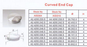 High Quality Stainless Steel Curved End Cap pictures & photos