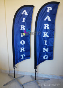 Knife Shape Featerh Flag Pole Banner Display Printing pictures & photos
