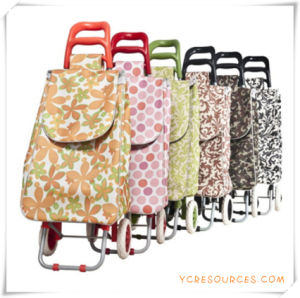 Two Wheels Shopping Trolley Bag for Promotional Gifts (HA82003) pictures & photos