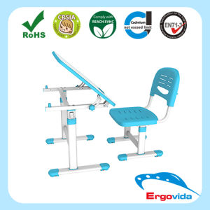 Tilting Single Desktop Kindergarten Study Table and Chair
