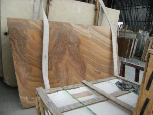 Brown Wood Vein Marble for Countertop pictures & photos