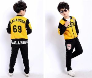 2015 New Arrival/ Three-Piece Long Sleeve Sports Suit for Boys pictures & photos