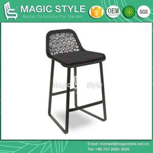 Bar Chair Wicker Chair Rattan Chair Club Chair Cafe Chair Outdoor Chair Patio Chair Weaving Chair Outdoor Furniture Poly Wicker Chair (Magic Style) pictures & photos
