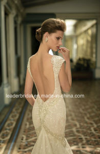 Deep V-Neckline Bridal Gown Lace Beading Berta Mermaid Wedding Dress B16144 pictures & photos
