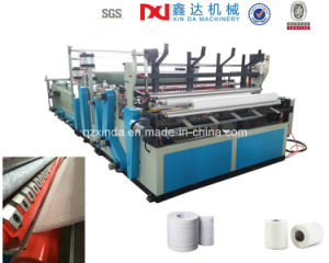 Full Automatic Rewinding Slitting Toilet Paper Making Machine pictures & photos