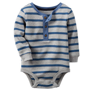 0-12monthes Pure Cotton Infant Clothes Striped Baby Romper pictures & photos