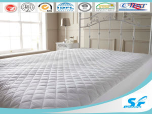White Goose Down Mattress Pad Protector Quilted Mattress Cover pictures & photos