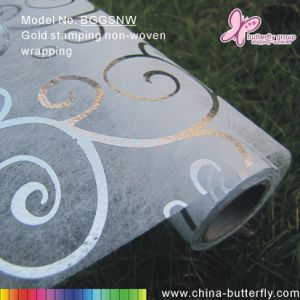 Silver Stamping Fine Long Fiber Non-Woven Wrapping Sheet
