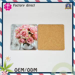Flower Picture Design Cork Material Coaster pictures & photos