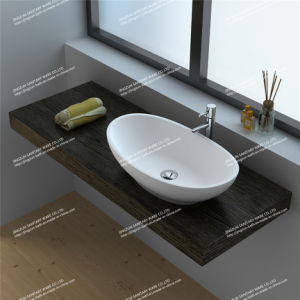 Modern Design Solid Surface Bathroom Mineral Casting Wash Basin/Sink (JZ9037)