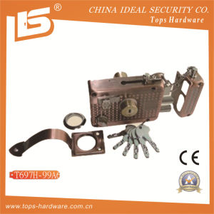 Security High Quality Door Rim Lock (T697H-99A6) pictures & photos